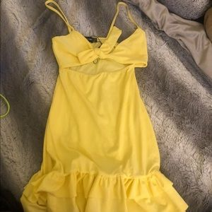 PrettyLittleThings Ruffle Bodycon Dress